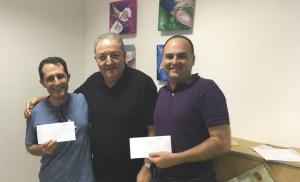 Campeones del encuentro D. Jorge Luis Rodríguez y D. Manuel Espín