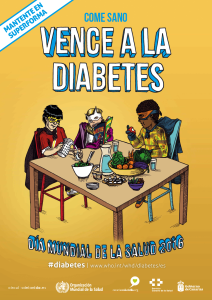 Cartel 2 Diabetes. Come sano
