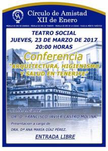 Cartel_Arquitectura, higienismo y salud en Tenerife_Círculo Amistad XII Enero_23032017