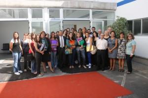 Alumnos y Autoridades en la Inauguración de la Escuela Foto:Ramón Pérez Pérez