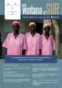 Cartel Jornada Enfermera Canaria de Cooperación al Desarrollo en Salud en África
